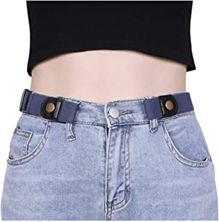 No Buckle Women Elastic Belt for Jeans, XZQTIVE Invisible Buckle-free Belt Stretchy Waist Belt