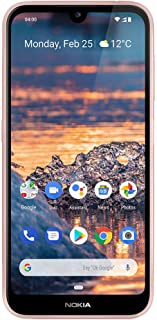 """Nokia 4.2 - Android One (Pie) - 32 GB - 13+2 MP Dual Camera - Unlocked Smartphone (at&T/T-Mobile/MetroPCS/Cricket/H2O) - 5.71"""" HD+ Screen - Pink"""