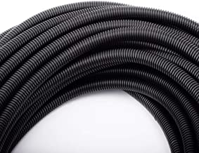 "50 FT 1/2"" Wire Loom Split Tubing Auto Wire Conduit Flexible Cover"