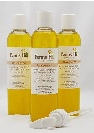 Organic Liquid Olive Oil Castile Soap Unscented