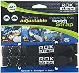 "ROK Straps ROK-10050 Black/Reflective 18"" - 60"" Motorcycle/ATV Adjustable Stretch Strap"