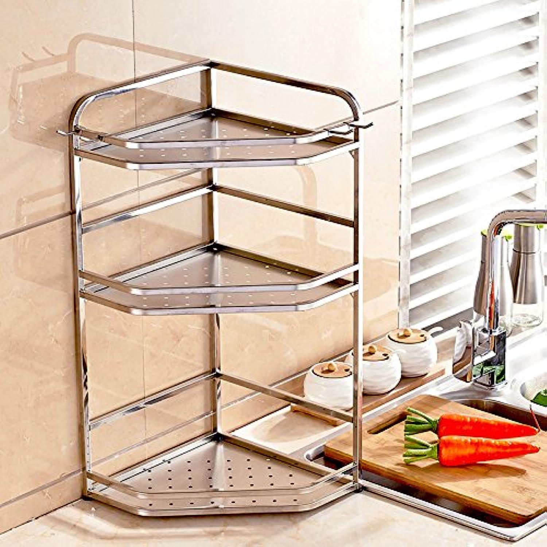 304 stainless steel kitchen shelf wall store spices flavor shelf kitchen storage rack bathroom shelves tripods