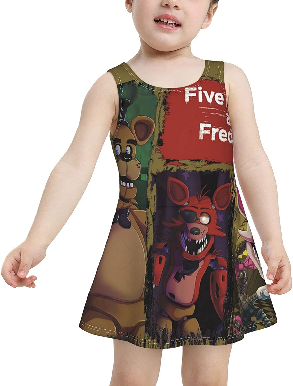 Five Nights at Freddy's Girls One Piece Swimsuits Swimwear Bathing Suit Ruffle Beachwear