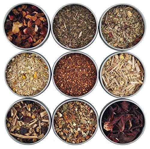 Heavenly Tea Leaves Herbal Tea Sampler, 9 Naturally Caffeine-Free Loose Leaf Herbal Tisanes