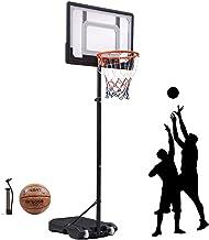 """Portable Basketball Hoop & Goal Basketball System Basketball Equipment Height Adjustable 65""""-104"""" Come with Basketball & B..."""