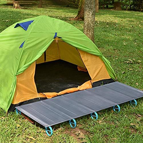 XKMY Camping Mat portátil al aire libre playa camping Mat cama senderismo aleación de aluminio simple resto plegable cama para playa picnic uso dormir