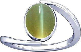 Divya Shakti 7.25-7.50 Carat Cat's eye Lehsuniya Gemstone Silver Ring for Women