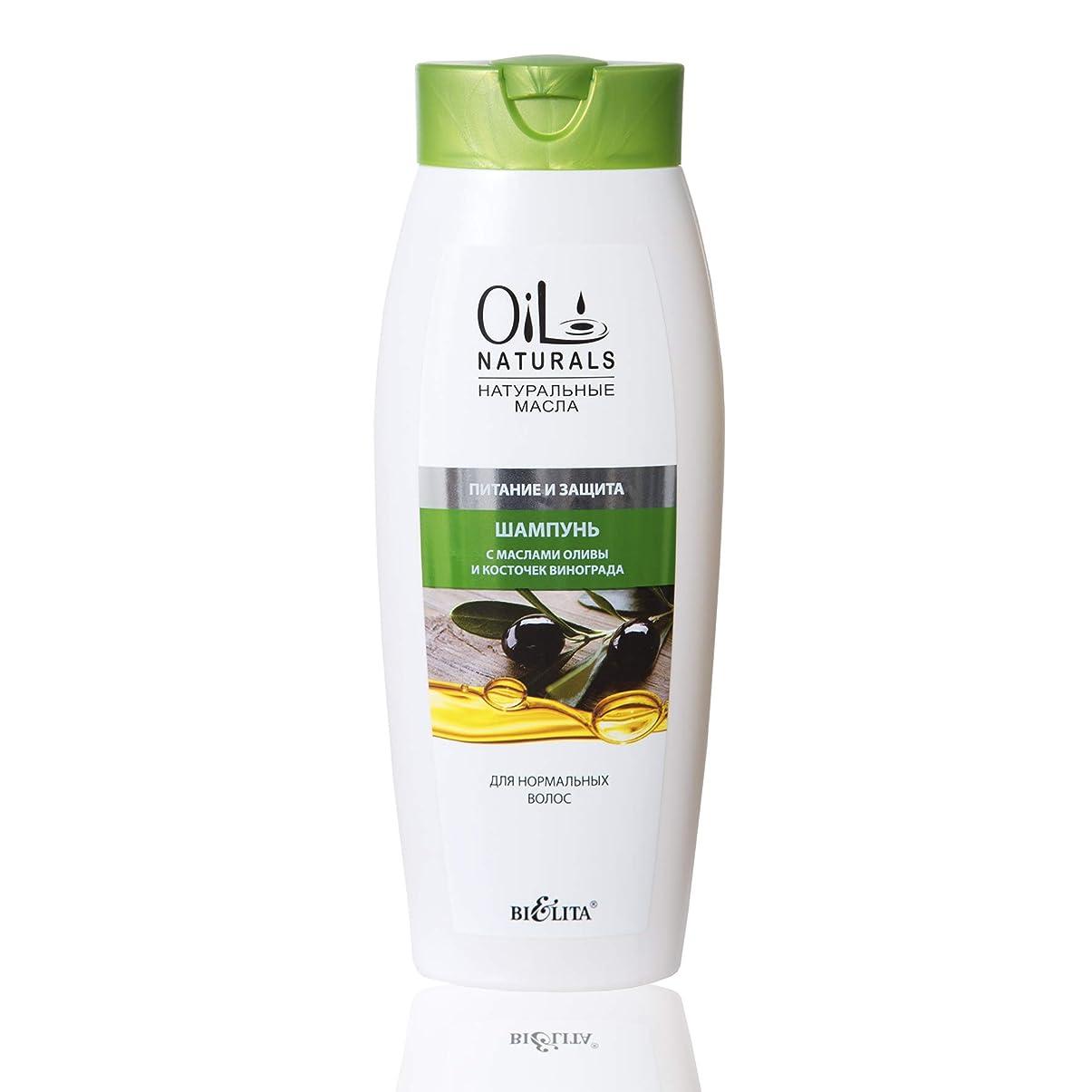 手当グラマー我慢するBielita & Vitex Oil Naturals Line | Nutrition & Protection Shampoo for Normal Hair, 430 ml | Grape Seed Oil, Silk Proteins, Olive Oil, Vitamins