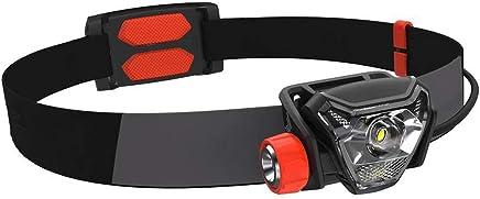 Qiuoorsqurp 300 Lumen, Helligkeitsanpassung, USB-Aufladungssportkopflicht, Langstreckenkopfbefestigung Nachtfahren Camping Angeln wasserdichtes Sportkopflicht geringes Gewicht, angenehm zu tragen B07QGQW6CH   Lebhaft
