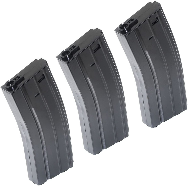 Airsoft Gear Parts Accessories 3pcs 140rd MidCap Mag Plastic Magazine for M4 M16 Series AEG Black