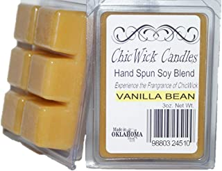 ChicWick Candles 2Pack Vanilla Bean Soy Blend Wax Melts 6oz 12 Wax Cubes Wax Tarts Wax Chunks, 50 Plus Hours of Quality Fragrance