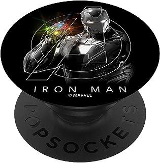 Marvel Avengers Iron Man Infinity Stones Shine PopSockets PopGrip - Support et Grip pour Smartphone/Tablette avec un Top I...