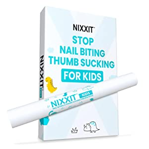 NIXXIT Nail Biting Treatment for Kids - Stop Thumb Sucking for Kids, Toddlers, Children - No Bite Nail Polish Pen - Non Glossy - Bitter Taste - Safe & Effective Solution