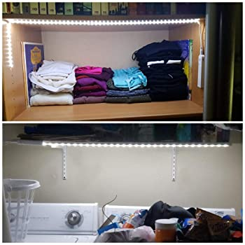Amagle LED Dual Mode Motion Night Light, Flexible LED Strip with Motion Sensor Closet Light for Bedroom Cabinet, Natu...