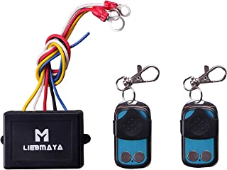 LIEBMAYA Wireless Winch Remote Control Kit for Truck Jeep ATV SUV 12V Switch Handset - with Two Keychain remotes