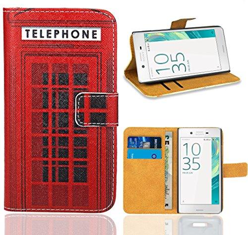 Sony Xperia E5 Handy Tasche, FoneExpert® Wallet Hülle Flip Cover Hüllen Etui Ledertasche Lederhülle Premium Schutzhülle für Sony Xperia E5