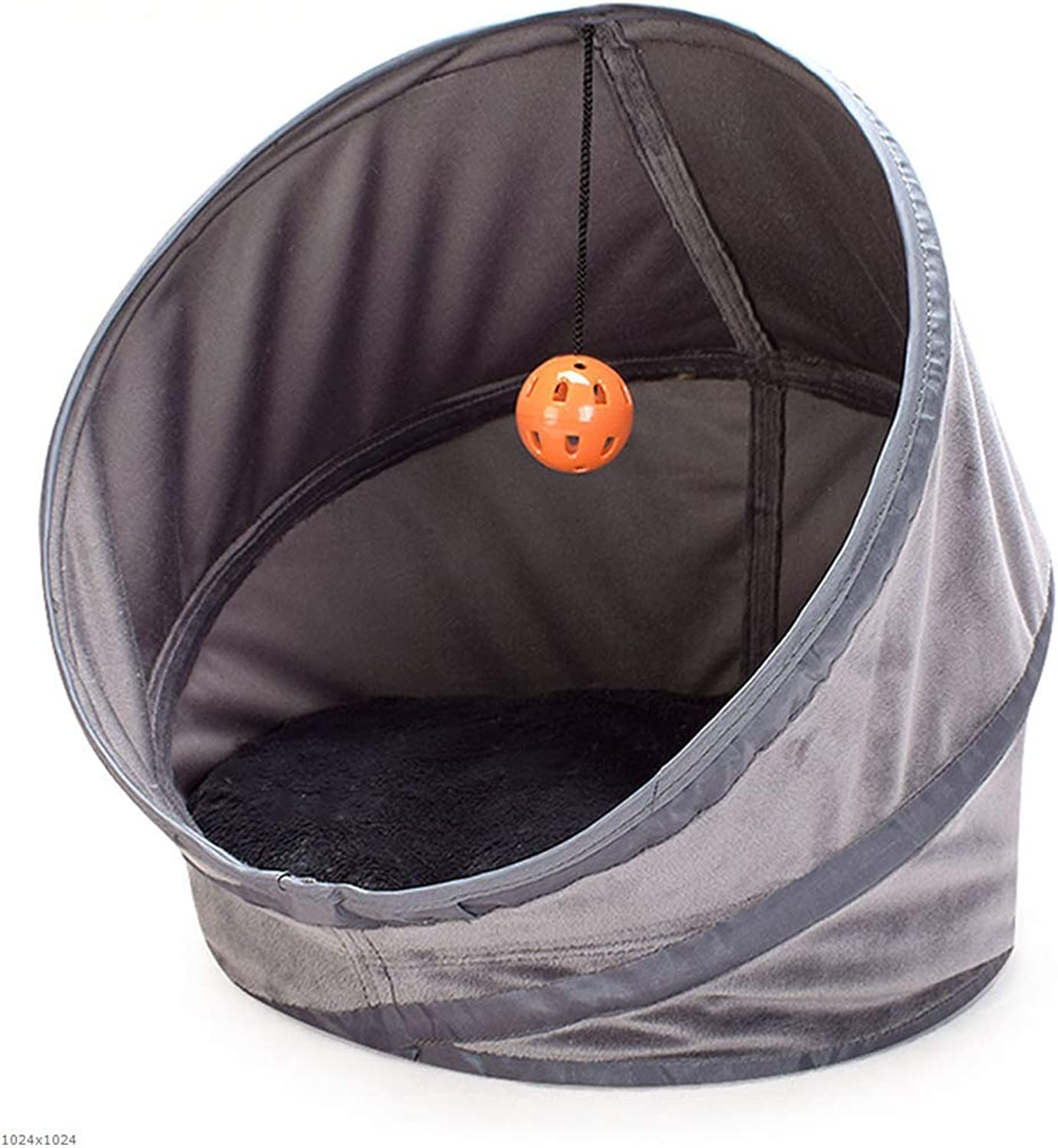 Cat Nest Closed, Foldable Super Soft, Warm cat Sleeping Bag, Kennel Hole,M