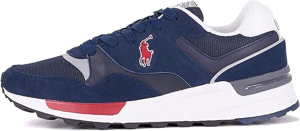 Ralph lauren,scarpe per uomo,sneakers,in pelle scamosciata e tessuto 809773080