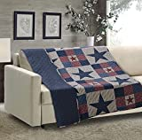 Quilted Throw Blanket by Virah Bella - 50' x 60' Mountain Cabin Gray Lightweight Throw Quilt Great for Loungers & Extra Bedding - Beautiful Lodge-Themed Blanket