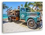 deyoli Alter LKW in Mexiko Format: 80x60 als Leinwandbild,