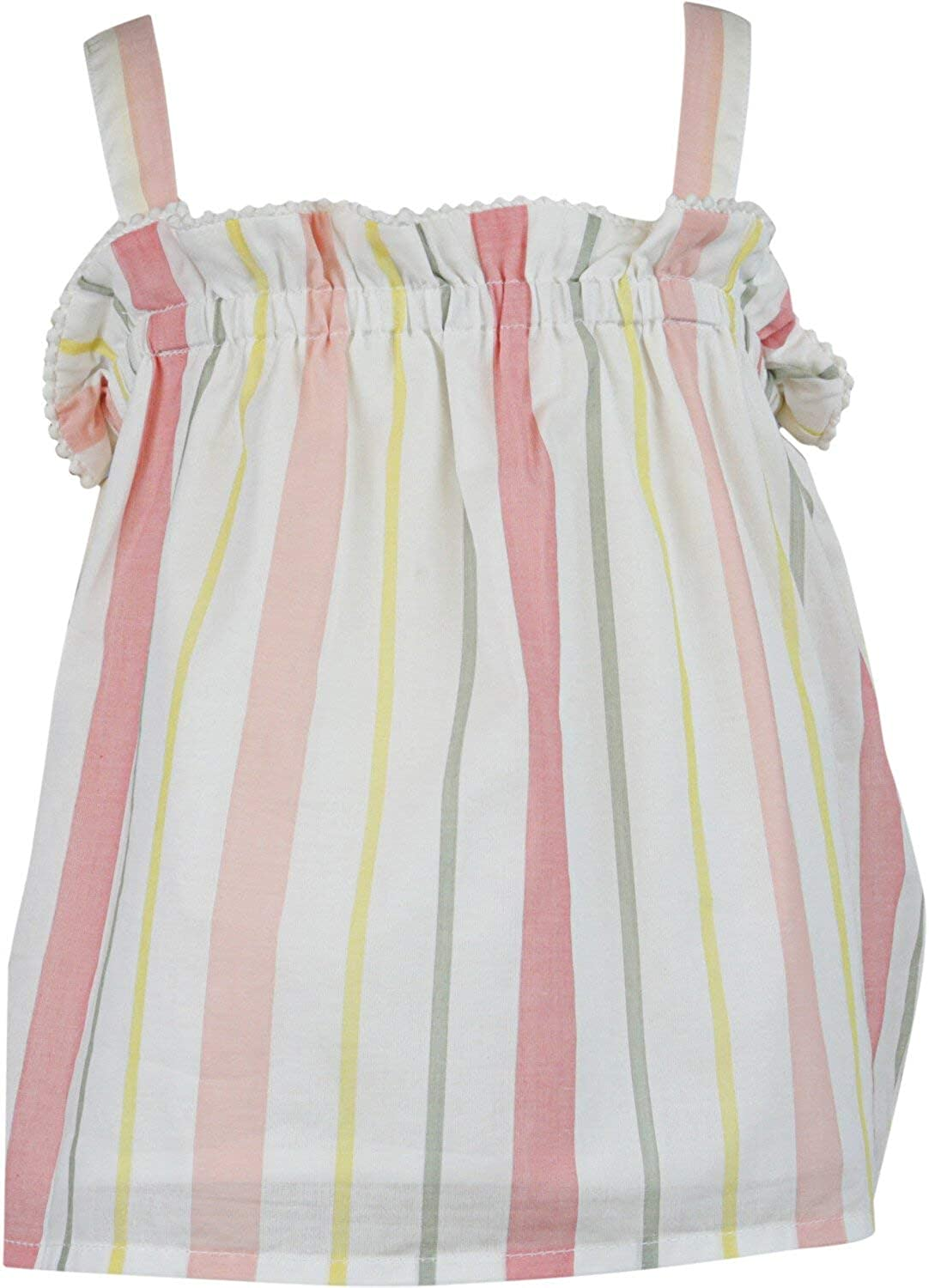 New Orleans Mall Janie and Elegant Jack White Multicolor Striped Pom Top 12-1 Trim Tank -