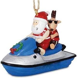 ski boat christmas ornament