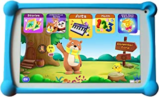 Kids Tablets, B.B.PAW 7 inch 1+16G WiFi Android 9.0 Google Certified Tablet with 120+ English Learning&Training Apps and Protective Case for Kids-Blue