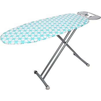 Peng Essentials Steel Folding or Adjustable Ironing Board with Iron Holding Tray (Grey)