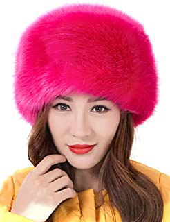 Odema Women's Warmth Furry Russian Winter Beanie Hat