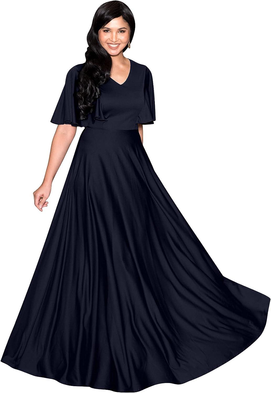 KOH KOH Womens Long Elegant Bridesmaid Evening Cocktail Modest Maxi Dress