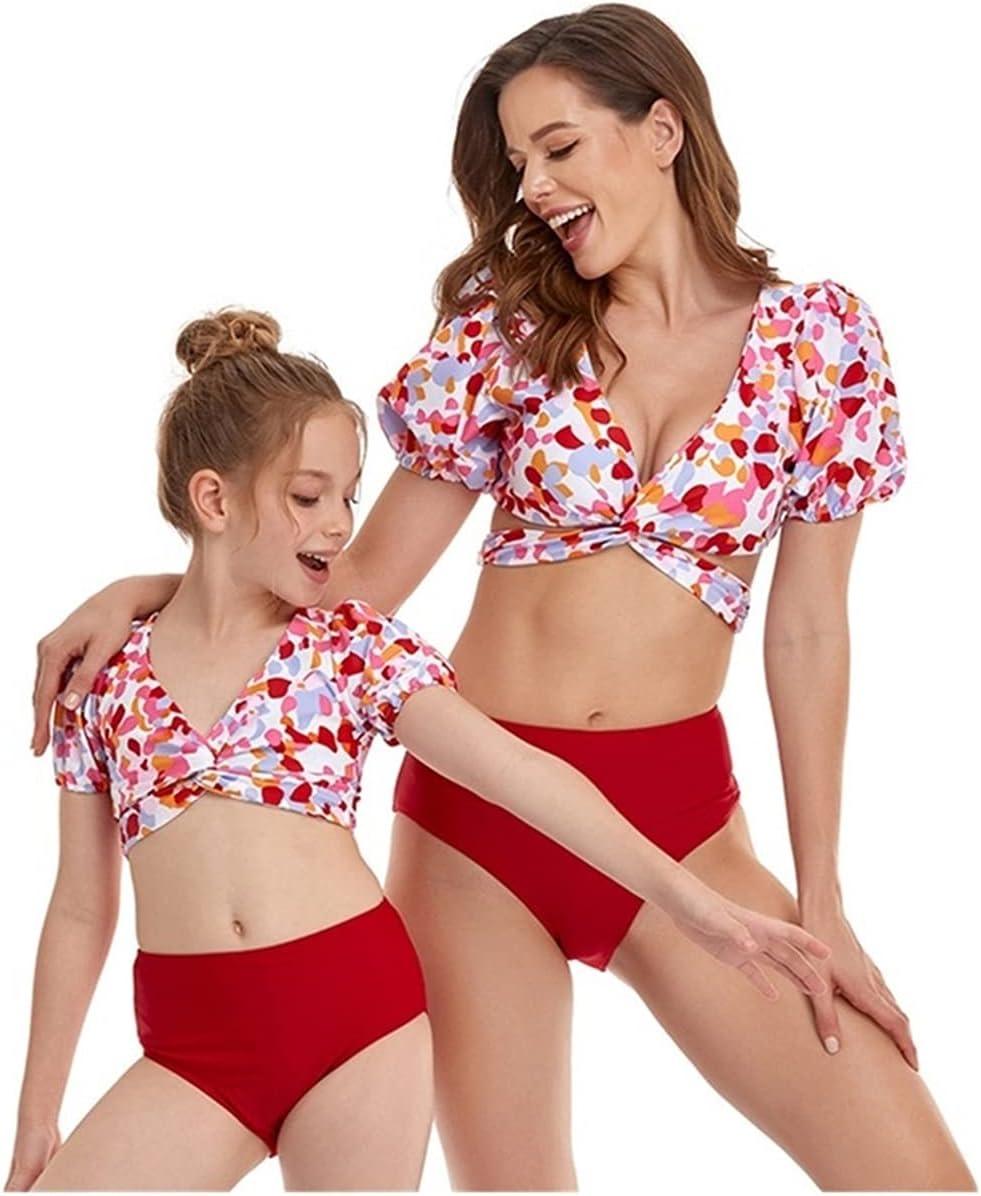 LANREN Girls Swimsuit Summer Kids Swimm Matching Long-awaited Low price Swimwear Family