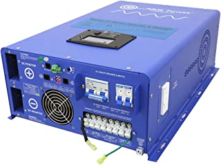 AIMS Power 10000 Watt Pure Sine Inverter Charger 48 VDC to 120 & 240 VAC 50 or 60 Hz