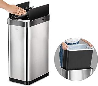 EKO ゴミ箱 30L センサー インナーボックス付 ステンレス スリム おしゃれ キッチン 生ゴミ おむつ ふた付き ダストボックス 自動開閉 sensor bin EK9261RMT-30