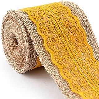 La Cinta del cordón eDealMax arpillera de la arpillera arte Elaboración ajuste del borde del Rollo