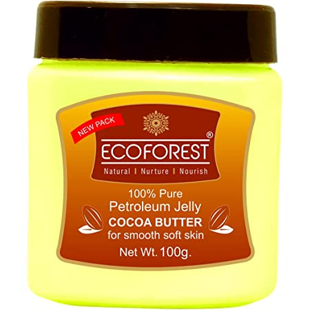EcoForest ,100% Petroleum Jelly, Cocoa Butter, (Enriched with cocoa butter and Vitamin E), 100 g/125 ml