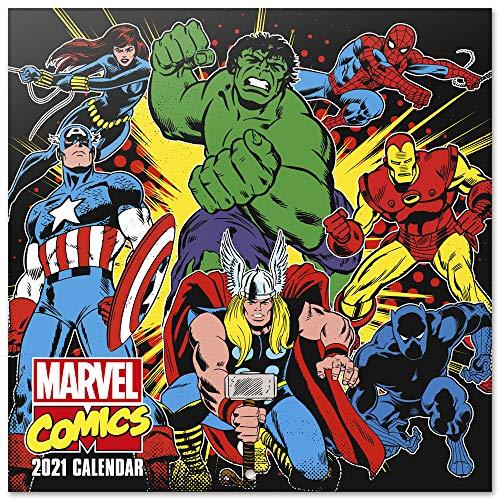 ERIK - Calendario de pared 2021 Marvel Comics, 30x30 cm, Producto Oficial (Incluye póster de regalo)