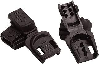 Aligle 100pcs Zip Clip Buckle Zipper Pulls Cord Rope Ends Lock Black Plastic Zipcords Stopper Paracord