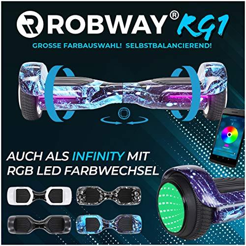 Robway RG1 Hoverboard - Das Original - Self Balance - 11 Farben - Bluetooth - 2 x 350 Watt Motoren - App (Space Blue)