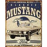 Placa de metal para la pared 1813 Auto Garage Ford Clásico Mustang Vintage Retro