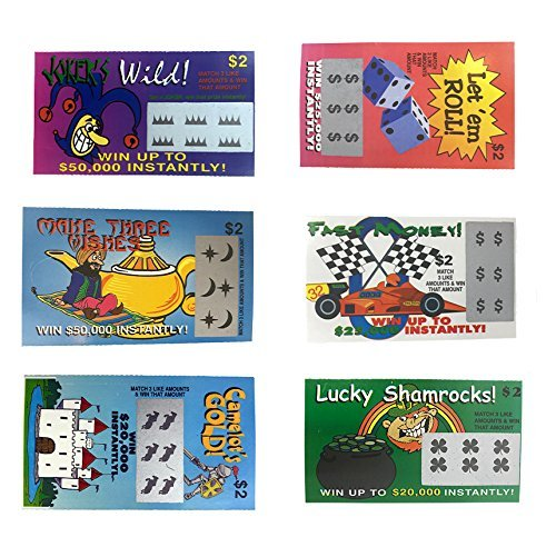 Fake Lottery Tickets-(Pack 10 Tickets)-Each Ticket is a Fake Winner of 20,000 or More!!! Big Winners...