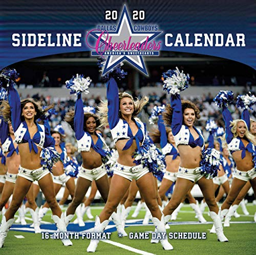 Dallas Cowboys Sideline Cheerleaders 2020 Calendar