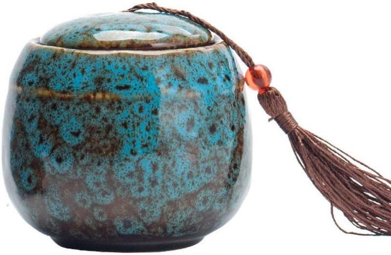 Color : Blue GFBHD Ceramic Urn ash Container,Dog Urns Ceramics Pet Caskets Urns Pet Memorial Urn Bird Ashes Holder Cremation Urn for Ashes Pet Urn