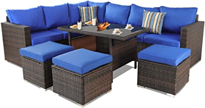Best outdoor patio furniture blue Reviews