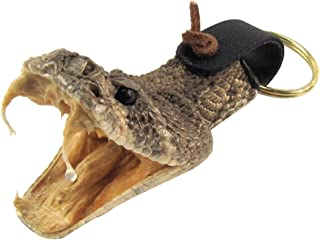 Eastern Diamondback Rattlesnake Head Keychain 100% Real Taxidermy Car Key Ring
