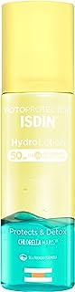 ISDIN HydroLotion SPF 50 - Fotoprotector solar Corporal Bifásico PROTECT & DETOX Hidratante Piel radiante 200 ml