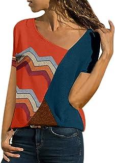 WOCACHI Womens Blouses 2019 Summer Zipper Tops T-Shirt Loose Tee Roll Up Short Sleeve Flowy Shirt