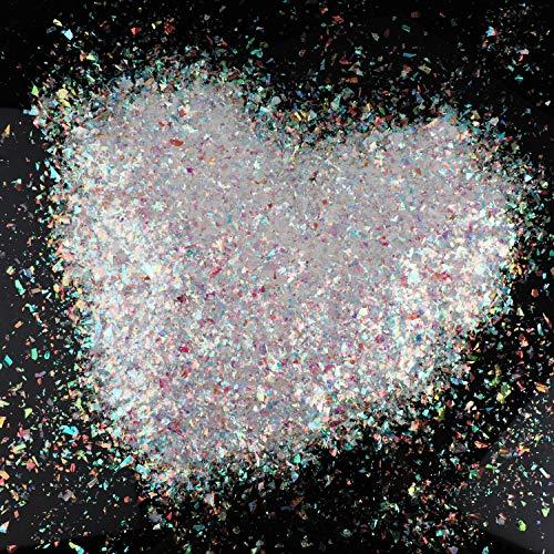 HOWAF 80g Fiocchi di Neve Finti Artificiali di Neve Iridescente Glitter di Natale Coriandoli di Neve di Natale per congelati Invernali, Matrimoni, Compleanni, Feste di Natalizie Decorazioni