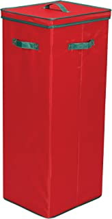 Household Essentials 580RED Wrapping Paper Storage Container - Holds up to 20 Rolls of Christmas Wrappings - Red Box with ...