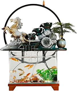 ZLBYB Living Room Rockery, Circulating Water, Small Wealth, Waterfall, Landscape, Fish Tank, Waterscape Decoration, Lucky