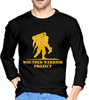 Wounded Warrior Long Sleeve T-Shirt Crew Neck Long Sleeve Printed Shirt Graphic Tee Tops